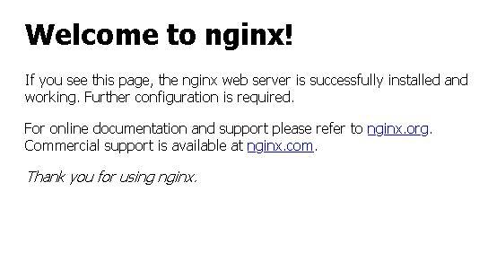 pagina de inicio nginx servidor casero